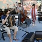Vincent Peirani, Simon Tailleu et Youn Sun Nah. Jazz à Vienne 2013. Photo : Pascal Kober