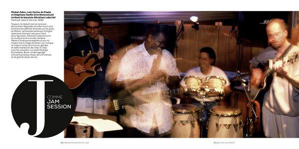 Michel Jules, Luiz Carlos de Paula et Stéphane Sarlin (trio Notenstock) invitent le bassiste Abraham Laboriel Festival Jazz à Vienne, 1993 Photo : Pascal Kober
